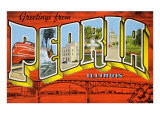 Greetings from Peoria, Illinois Print