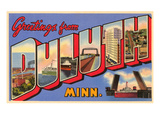 Greetings from Duluth, Minnesota Art