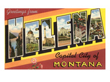 Greetings from Helena, Montana Print