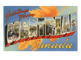 Greetings from Montreal, Canada Print