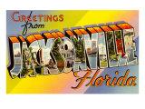 Greetings from Jacksonville, Florida Print