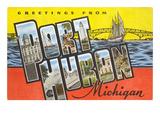 Greetings from Port Huron, Michigan Art