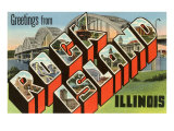 Greetings from Rock Island, Illinois Prints