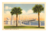 Bridge of Lions, St. Augustine, Florida Poster