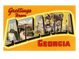 Greetings from Atlanta, Georgia Posters