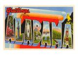 Grüße aus Alabama Kunstdrucke