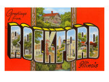 Greetings from Rockford, Illinois Posters