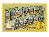 Greetings from Newport Harbor, California Prints