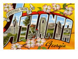 Greetings from Atlanta, Georgia Poster