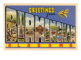 Greetings from Birmingham, Alabama Prints