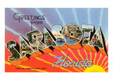 Greetings from Sarasota, Florida Print