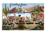 Greetings from Arizona Print