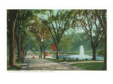 Frog Pond, Common, Boston, Massachusetts Kunstdrucke