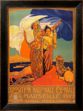 Exposition Nationale Coloniale, 1922 Posters by David Dellepiane