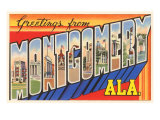 Greetings from Montgomery, Alabama Print