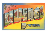 Greetings from Billings, Montana Print
