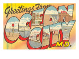 Greetings from Ocean City, Maryland Print