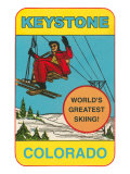Keystone, Colorado, Label Posters
