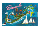Map of Bermuda Prints