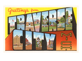Greetings from Traverse City, Michigan Posters