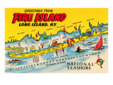 Greetings from Fire Island, Long Island, New York Posters