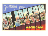 Greetings from St. Joseph, Michigan Posters