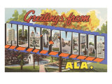 Greetings from Huntsville, Alabama Prints