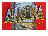 Greetings from Aurora, Illinois Art