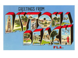 Greetings from Daytona Beach, Florida Print
