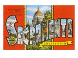 Greetings from Sacramento, California Art
