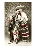Mexican Family in Native Garb Print