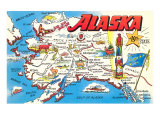 Map of Alaska Art
