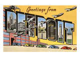 Greetings from Detroit, Michigan Art