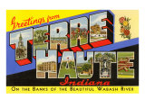 Greetings from Terre Haute, Indiana Poster
