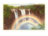Rainbow Falls, Hilo, Hawaii Poster