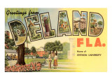Greetings from Deland, Florida Poster