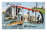 Greetings from Alpena, Michigan Prints