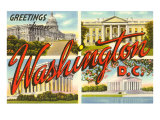 Greetings from Washington, DC Prints