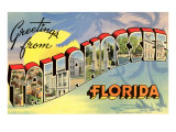 Greetings from Tallahassee, Florida Prints