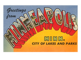 Greetings from Minneapolis, Minnesota Prints