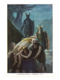 Death of Siegfried, Twilight of the Gods Premium Giclee Print