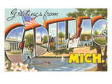 Greetings from Cadillac, Michigan Posters