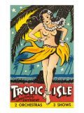 Tropical Girl Pin Up Poster