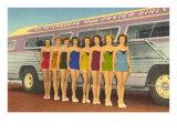 Bathing Beauties by Bus, St. Petersburg, Florida Kunstdrucke