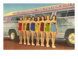 Bathing Beauties by Bus, St. Petersburg,  Florida Lmina gicle