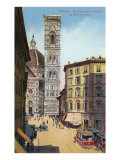 Tower and Cathedral, Florence, Italy Poster