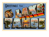 Greetings from Lake Tahoe, California Posters
