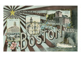 Greetings from Boston Prints