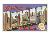 Greetings from Detroit, Michigan Prints