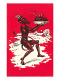 Devil with Steaming Apples Prints